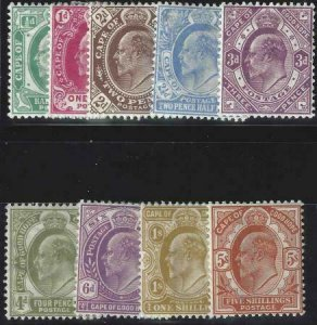 Cape of Good Hope 1902-1904 SC 63-71 MLH SCV $286.00 Set