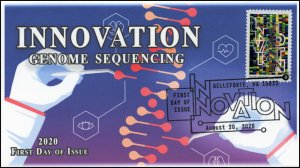 20-187, 2020, SC 5516, Innovation, First Day Cover, Pictorial Postmark, Genome