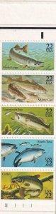 22c Fish Booklet, MNH, Sc #2209/BK 154 (8195)