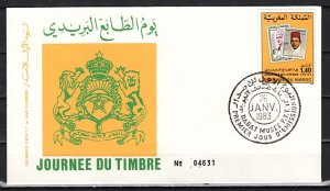 Morocco, Scott cat. 544. Stamps on Stamp issue. First Day cover. ^