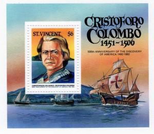 St. Vincent 1986 SC 939 SS  MNH Christopher Columbus Ships