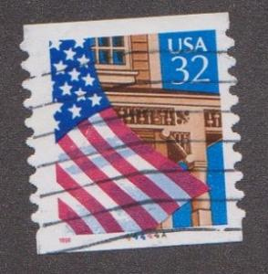 US #2915A Flag over Porch Used PNC Single plate #44444A