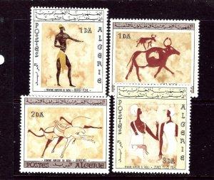 Algeria 344-47 MNH 1966 Wall Paintings    (ap3599)