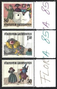 Liechtenstein. 1985. 887-89. Theater. MNH.