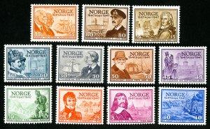 Norway Stamps # 279-89 XF OG NH Catalog Value $47.00