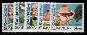 SAMOA QEII SG594-598, 1981 tourism set, NH MINT.