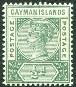 CAYMAN ISLANDS-1900 ½d Deep Green Sg 1 UNMOUNTED MINT V28777