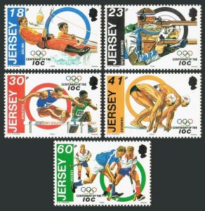 Jersey 676-680,MNH.Michel 680-684. Olympic Committee-100,1994.Sailing,Shooting,