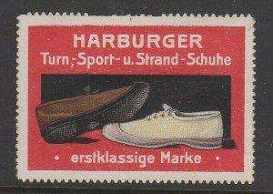 Germany Harburger Sport & Beach Shoes Advertising Stamp NG -AL