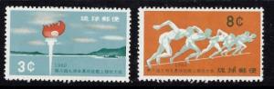 Ryukyu Is 72-73 Hinged 1960 Sports
