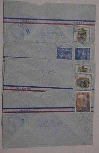 ECUADOR  PANAMA CONSUL x5 TO NEW YORK 1960's