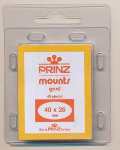 Prinz Scott Stamp Mounts Size 40 / 26 mm BLACK  (Pack of 40)  ( 40x26 )