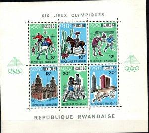 Rwanda #254  F-VF Unused  CV $11.00 (K2838L)