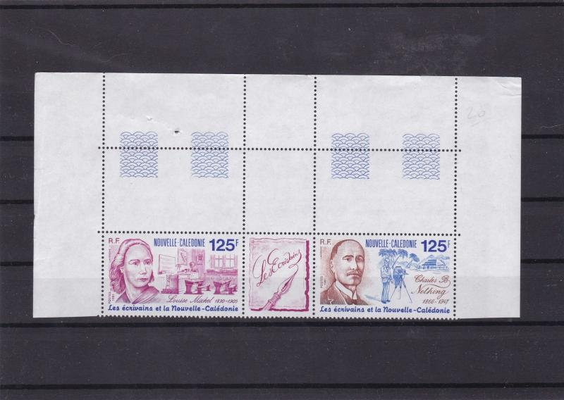 new caledonia 1991 writers mnh stamps cat £25+   ref 7884
