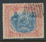 North Borneo SG 111 CTO perf 14 see details  corrected inscription see scans