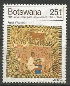 BOTSWANA, 1976, MNH 25t, Rural weaving Scott 172