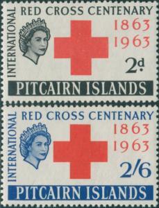 Pitcairn Islands 1963 SG34-35 Red Cross set MLH