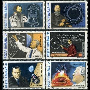 ROMANIA 1989 - Scott# C278-83 Moon Landing Set of 6 NH