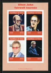 CHAD 2019 ELTON JOHN  FAREWELL TOUR SHEET IMPERFORATE   MINT NEVER HINGED