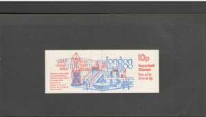 GB: Sc. BK227/ 10 PENNY -QE II DECIMAL- Panes of 3+ Label / Folded Booklet /MNH