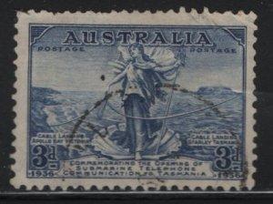 AUSTRALIA ,158, USED,1936 Amphitrite joining cables between Australia & Tasmania