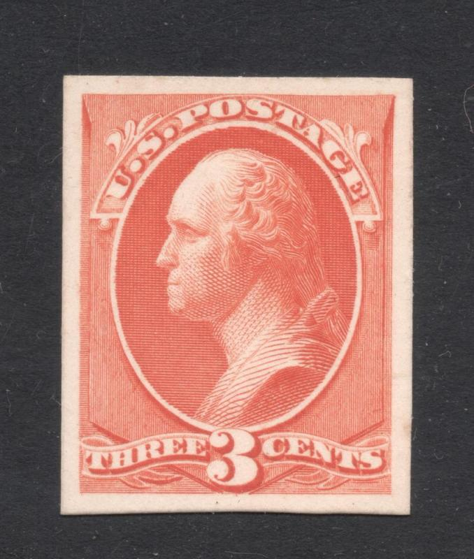 #214P-4 Vermilion -  Engraved Plate Proof on Card
