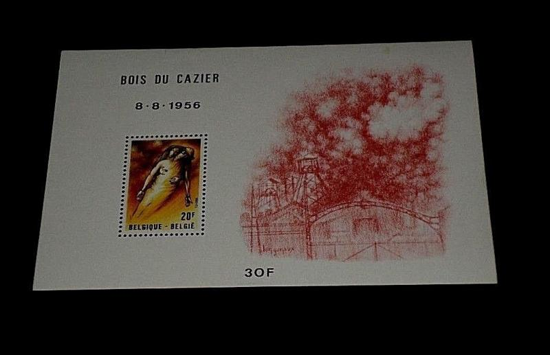 BELGIUM #1080, 1981, MINING DISASTER, SOUVENIR SHEET, MNH, NICE! LQQK