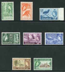 SARAWAK SG204/11 1964-65 Wmk w12 set of 8 U/M