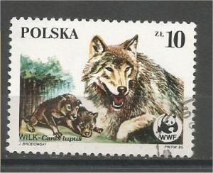 POLAND, 1985, used 10z, Endangered Wildlife Scott 2679