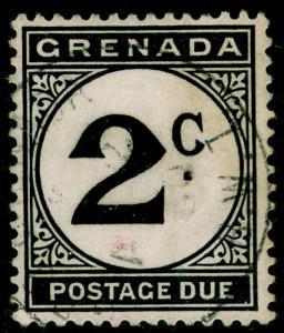 GRENADA SGD15, 2c black, FINE USED. Cat £12.