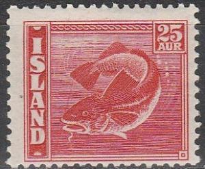 Iceland #224  F-VF Unused CV $32.50