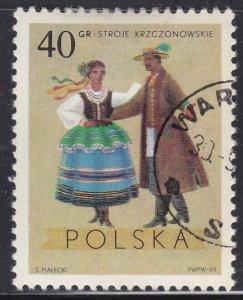 Poland 1685 Costumes From Krczonow, Lubin 40Gr 1969