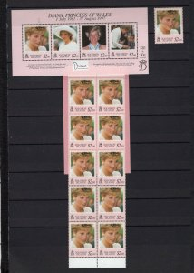 SOLOMON ISLANDS 1999 ROYALTY/LADY DIANA SET OF 1 STAMP, BOOKLET & S/S MNH