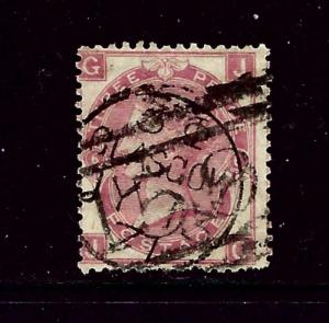 Great Britain 49 Used Plate #6 1867 issue few short perfs
