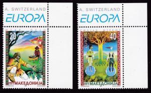 Macedonia 1997 (2) Folk Tales Complete  VF/NH