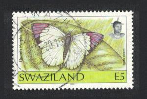 Swaziland Butterfly 'Cololis regina' E5 Imprint '2000' canc RARE SG#618