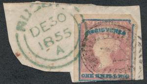 AUSTRALIA- VICTORIA F1 Used on piece, registration
