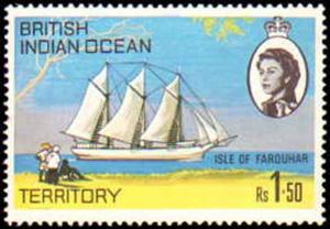 British Indian Ocean Territory #35-38, Complete Set(4), Never Hinged