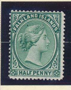 Falkland Islands Stamp Scott #9a, Unused, Mint No Gum - Free U.S. Shipping, F...