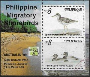 Philippines #2606a Australia '99 World Stamp Expo. Shorebirds.