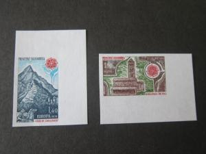 French Andorra 1978 Sc 262-3 set imperf. MNH