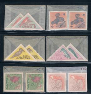 Liberia 341-46 Unused 2 sets imperf and perf 1953 (L0690)