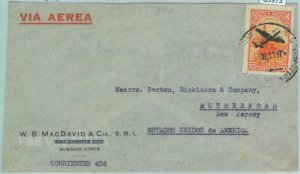 85973 - ARGENTINA - POSTAL HISTORY - AIRMAIL COVER  to USA  1951