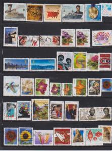 LOT OF DIFFERENT STAMPS OF CANADA USED(40) LOT#315