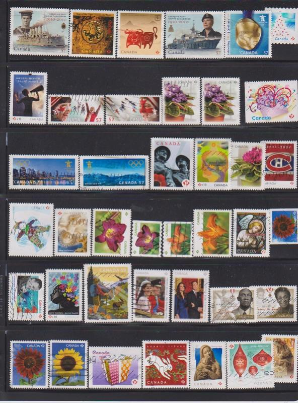 LOT OF DIFFERENT STAMPS OF CANADA USED 460) LOT#315