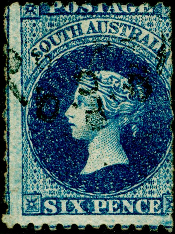 AUSTRALIA - South Australia SG57, 6d prussian blue, USED  CDS  Cat