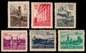 ✔️ GERMAN OCCUPATION ESTONIA 1941 - RECONSTRUCTION - SC. NB1/NB6 ** MNH 12$ [E1]