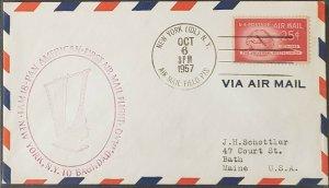 Pan Am 1957 New York AMF To BAGHDAD IRAQ FFC