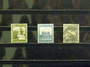 W92   PALESTINE   # 73, 76, 77   MH & Used, VF   3 Stamps         CV$ 4.65