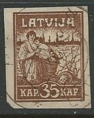 Latvia || Scott # 45 - Used